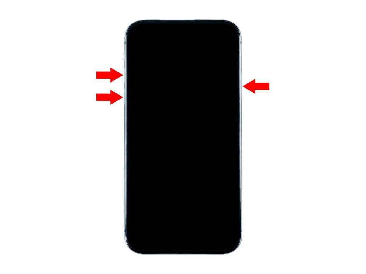 iphone xr stuck on black screen