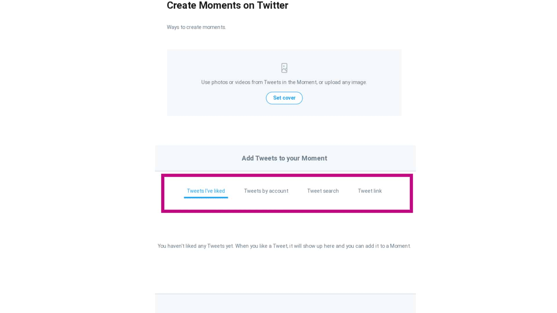 twitter moments add tweets
