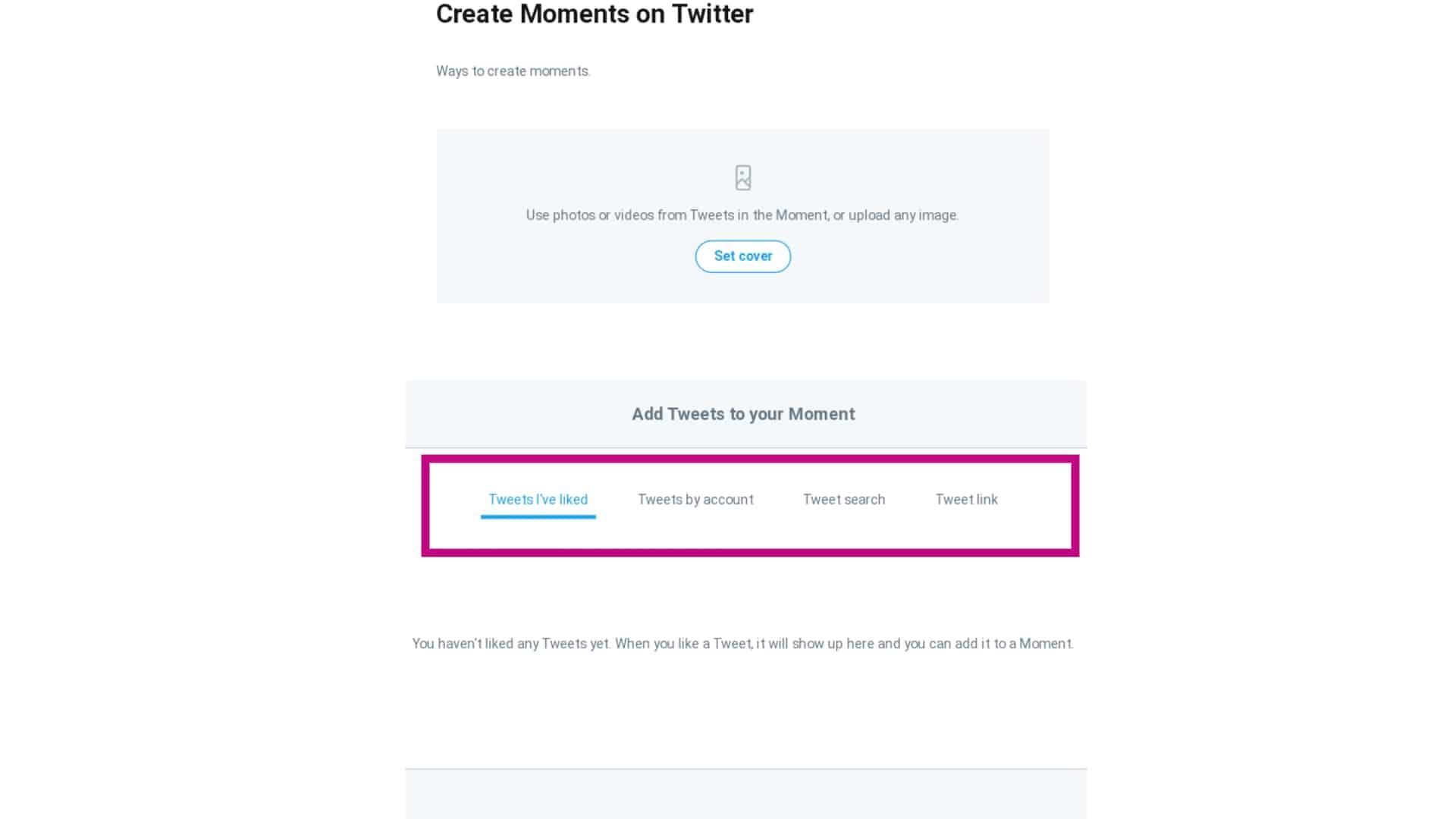 twitter moments add tweets