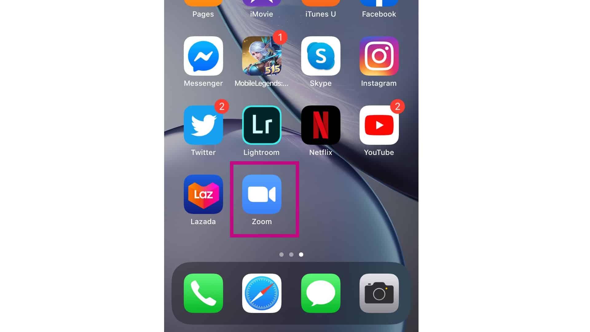 open zoom app
