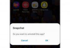 snapchat keeps crashing uninstall app