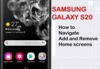 how to add and remove galaxy s20 home screens