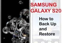 how to back up and restore galaxy s20