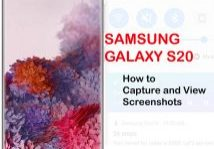 how to capture and view screenshots on galaxy s20