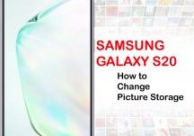 how to change picture storage on Galaxy S20
