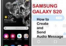 how to create and send audio message on galaxy s20