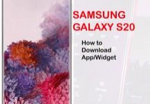how to download app or widget on galaxy S20