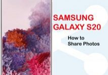 how to share photos from Galaxy S20