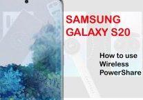 how to use galaxy s20 wireless powershare