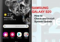 how to view and install galaxy s20 updates